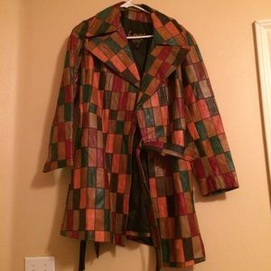 Jackets & Blazers - Vintage 60s/70s patchwork leather jacket like new